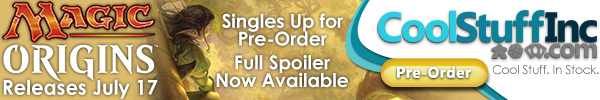 Order Magic Origins booster boxes and singles from CoolStuffInc.com today!